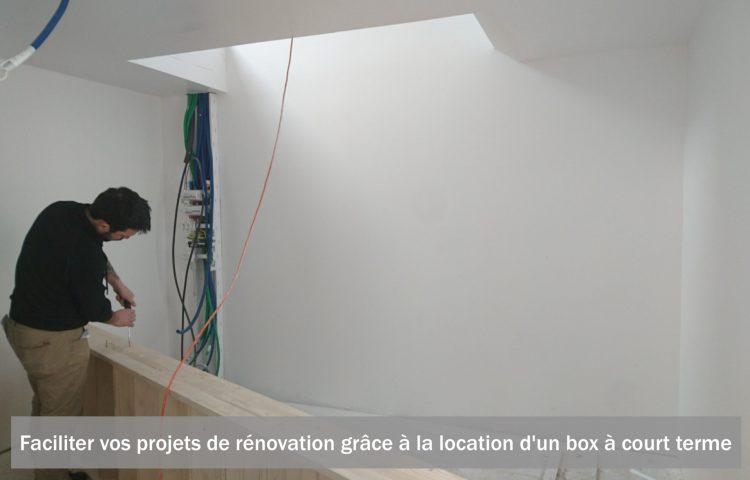 Faciliter vos projets de rénovation grâce à la location d'un box à court terme